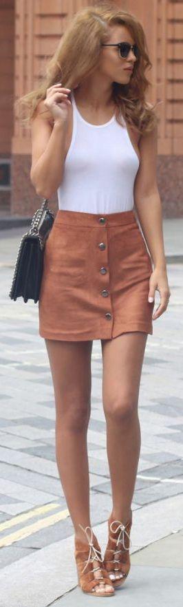 $39.99 Vintage Fashion Corduroy High Waist Mini Skirt