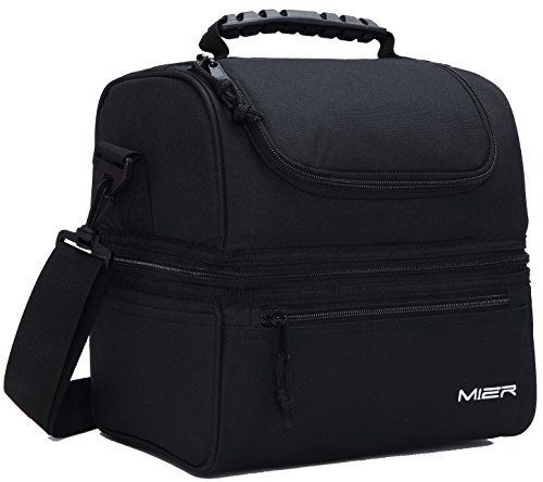 MIER Adult Lunch Box Insulated Lunch Bag Large Cooler Tote Bag for Men, Women, Double Deck Cooler(Black), http://www.amazon.com/dp/B01FQA0YDQ/ref=cm_sw_r_pi_awdm_x_.O.-xb2M62CXW