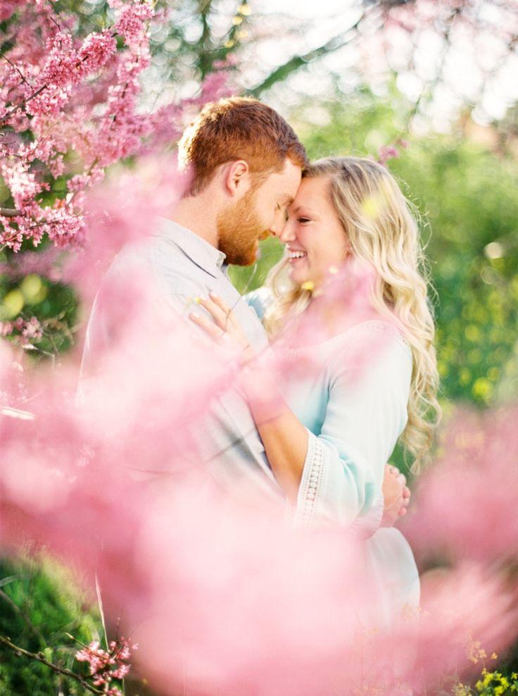Spring engagement photos