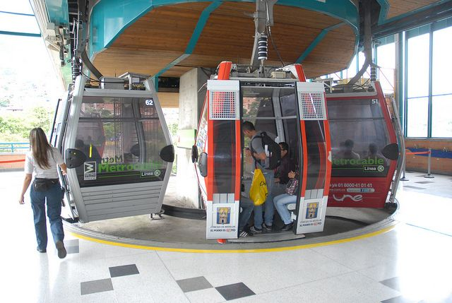 Estación del metrocable, Medellín.