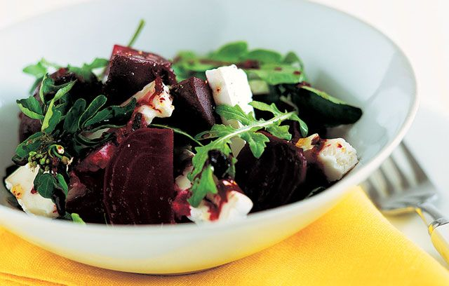 Betroot and goats cheese salad