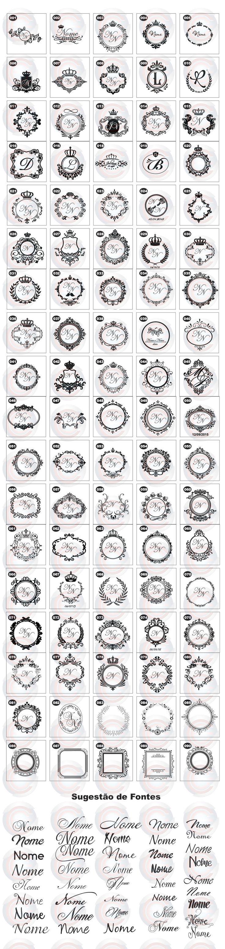 88 besten brasão - monograma - base arte Bilder auf Pinterest ...
