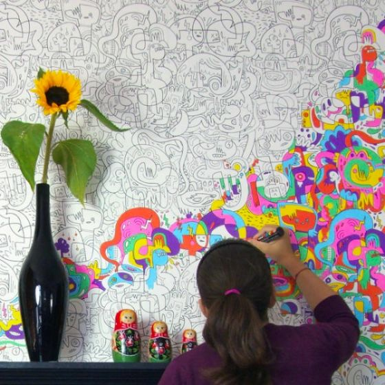 Color in your own wallpaper!!!