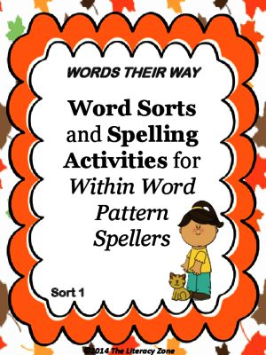 Spelling Activities for Words Their Way Within Word Pattern Spellers from The Literacy Zone on TeachersNotebook.com -  (7 pages)  - This product includes activities and worksheets that support Words Their Way Within Word Pattern Spellers Sort 1.