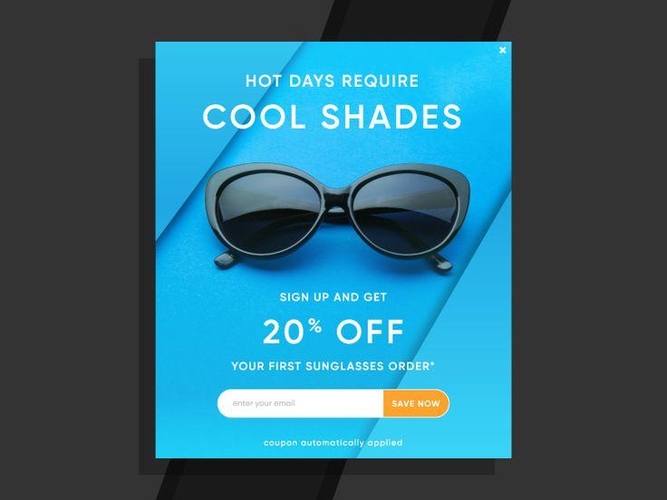 Sunglasses Email Sign Up Pop Up by Raquib Ahmed #sunglasses #email #sign-up #pop-up #module #sale #ecommerce #radesigner #raquib #ahmed #cbus #columbus #discount #frames