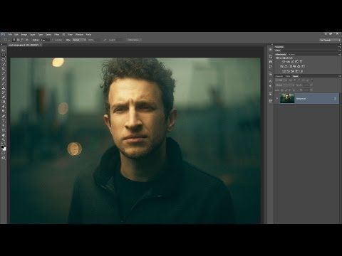 Retouch a Moody and Cinematic Portrait with Photoshop - YouTube