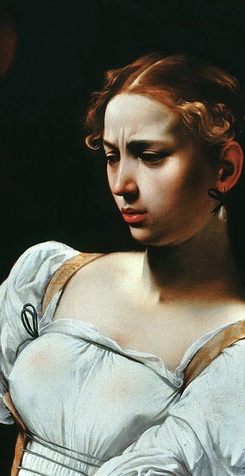 Caravaggio - Judith beheading Holofernes, 1599 (detail)  >> http://www.explorartorium.info/?id=3356