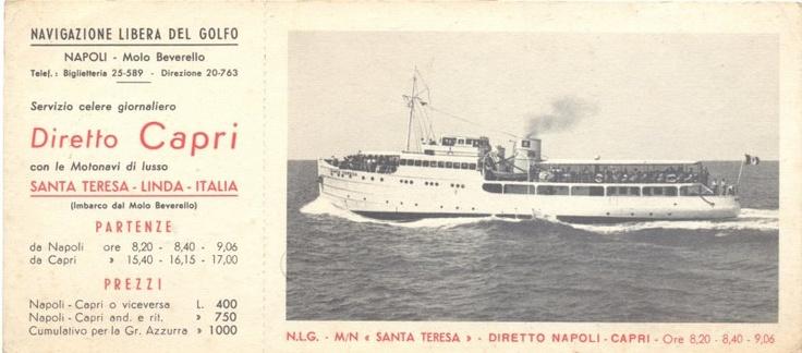 #Vintage ticket to #Capri...some years ago!