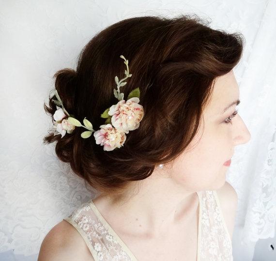 Bridal Hair Hair Pins Flower Hair Pins Bridal Headpiece