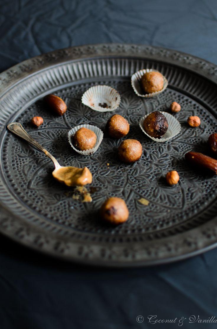 Haselnuss-Energiebällchen  - Hazelnut Energy Balls by Coconut & Vanilla