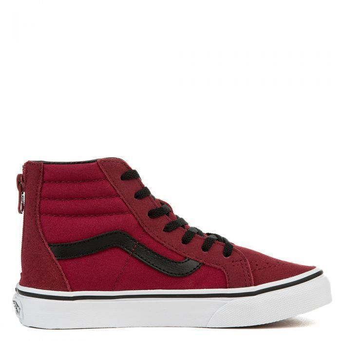 5e453d5be2 New Vans Kids Tibetan Red Classic Zipper Up Sk8-Hi High Top Sneaker Shoes  Size 1  VANS  CasualShoes