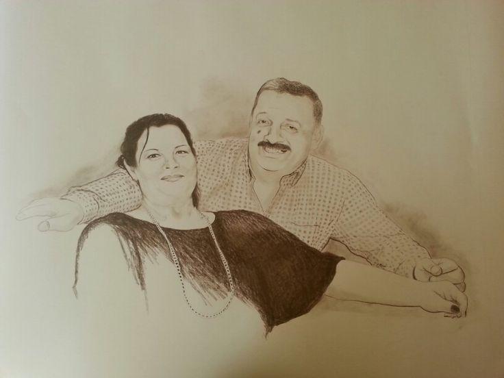 Portrait 70x100cms