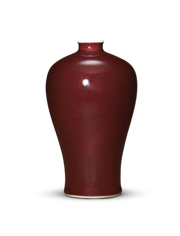 A copper-red glazed vase, meiping, Qing dynasty, 18th century