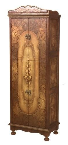 Tasteful Beige Armoire W_Hand-painted Rose Designs. h1Tasteful Beige Armoire W_Hand-painted Rose Designs_h1This impeccable beige armoire features hand-painted rose designs on the 2 sets of double doors and on the side panels, and bun feet. Hand-crafted in Peru. Allow 4-6 w.. . See More Armoires at http://www.ourgreatshop.com/Armoires-C1067.aspx