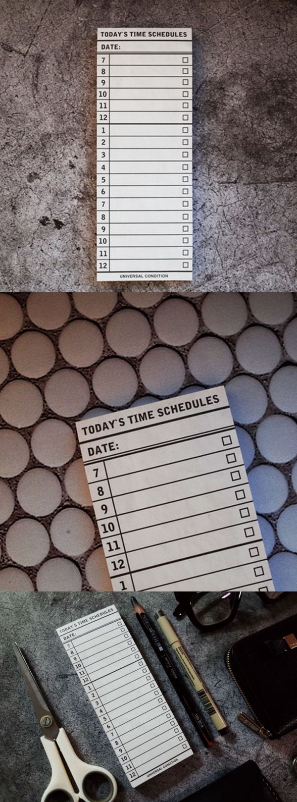 It is a simple yet powerful daily planning note to help you to live your life to the fullest! By planning your schedule in hourly time slots, you can manage your daily tasks with greater management. Once you are done planning, tear the sheet from the pad and carry it with you to check off the things you've done!