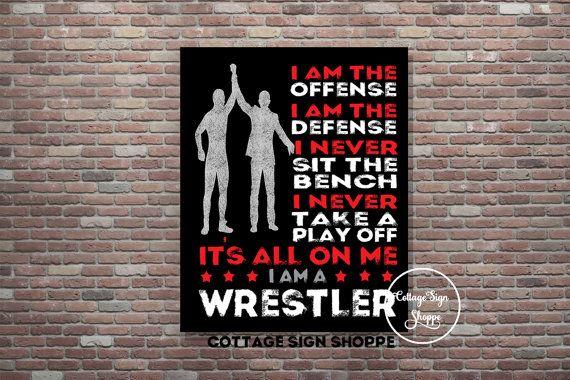 I Am A Wrestler Wrestling Poster Wrestler by CottageArtShoppe