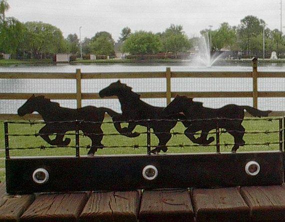 Running horses bathroom wall light  3 light by RockinLDesign, $150.00