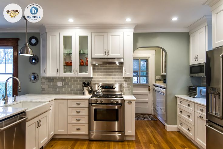 This beautiful Fabuwood Nexus Frost #kitchen was built by ...