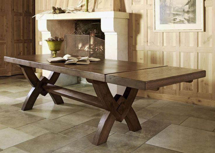 Saint Michel Monastery Dining table - X Leg from George Tannahill & Sons