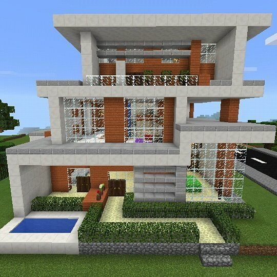 M s de 25 ideas incre bles sobre casas minecraft en for Casa moderna omarzcraft
