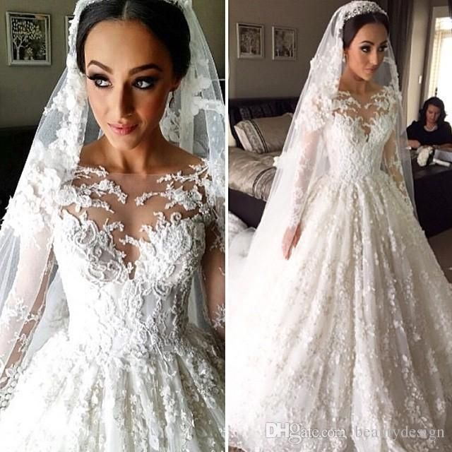 Wholesale short wedding gowns, simple lace wedding dresses and the best wedding dresses on DHgate.com are fashion and cheap. The well-made vestidos de noiva vintage indian muslim lace a line wedding dresses 2016 with long sleeves sheer appliques bridal gowns arabic islamic sold by beautydesign is waiting for your attention.