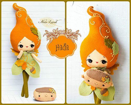 Hada, Autumn fairy || doll, plush, stuffed