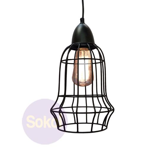 Industrial Wire Cage Pendant P130A