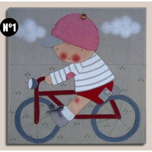 Cuadro niño bici