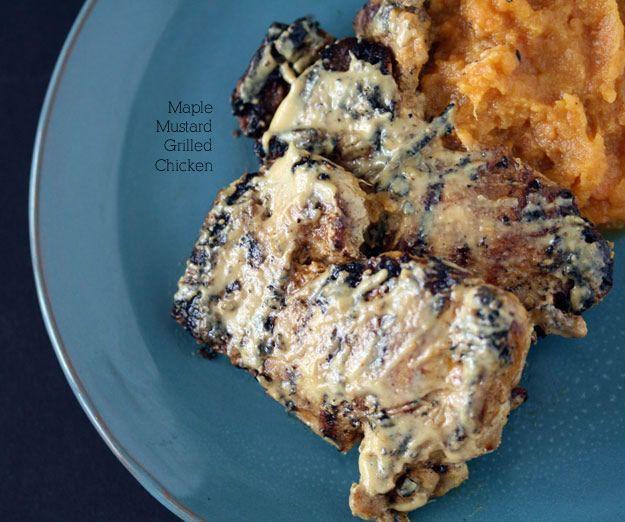 Maple, Mustard Grilled Chicken