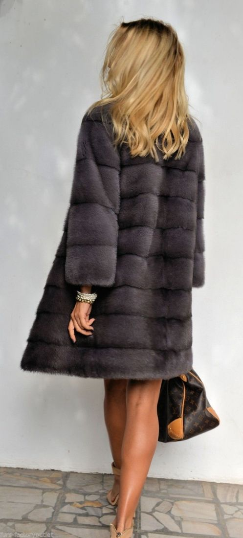 mink furs - 2015 milano graphite royal saga mink fur coat