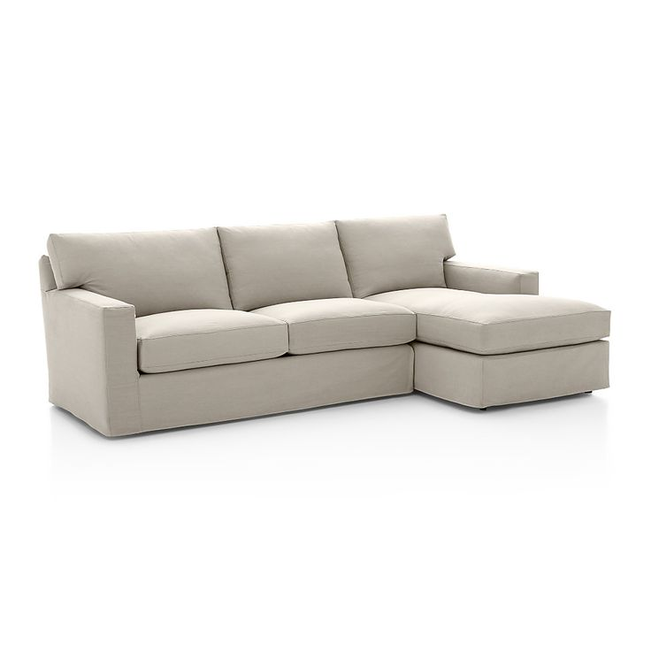 Axis II Slipcovered 2-Piece Sectional Sofa | Crate and Barrel