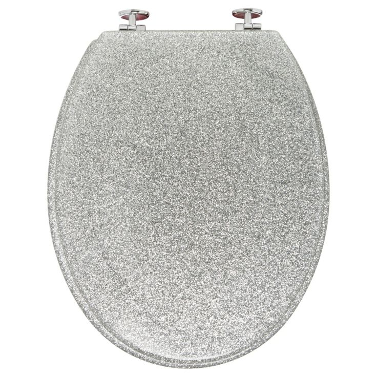 Silver glitter toilet seat by asda homeware cool ideas for Cool homeware uk