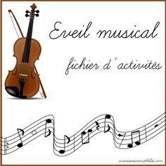 Petits jeux et exercices sur le thème de la musique! http://avenuereinemathilde.com/fichier-dactivites-eveil-musical-3-ans/                                                                                                                                                                                 Plus