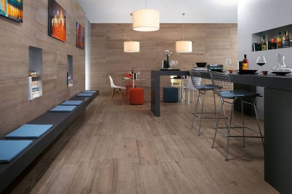 The intense sensations of naturalness and genuineness of untreated wood essences come to life in a sophisticated ceramic finishing, to create venues with emotional atmospheres even in contexts requiring high technical performance.