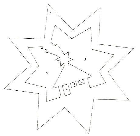 étoile avec maison