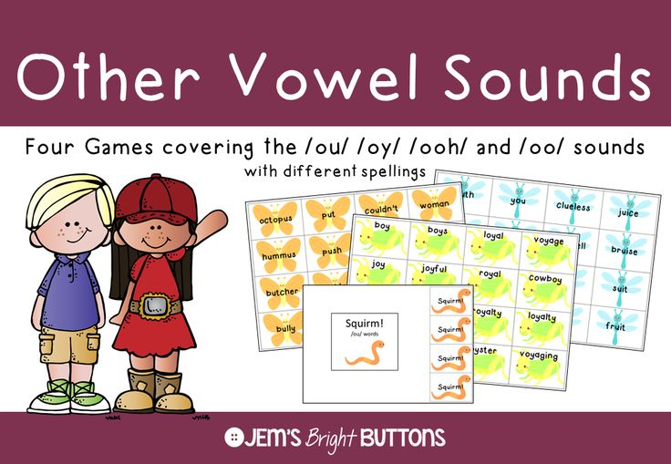 Your students will have lots of fun practicing to read words with other vowel sounds using these four games!