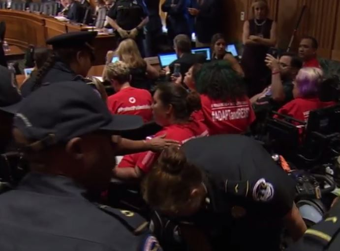 Republicans Have Disabled Protesters Removed By Police At Graham-Cassidy Hearing