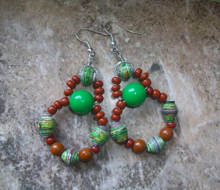 Ne Na Handmade Jewelry- paper beads earrings