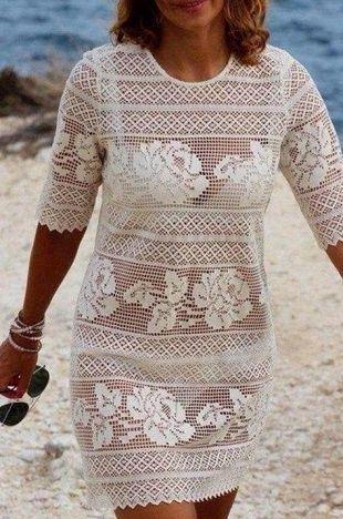 Филейное платье крючком