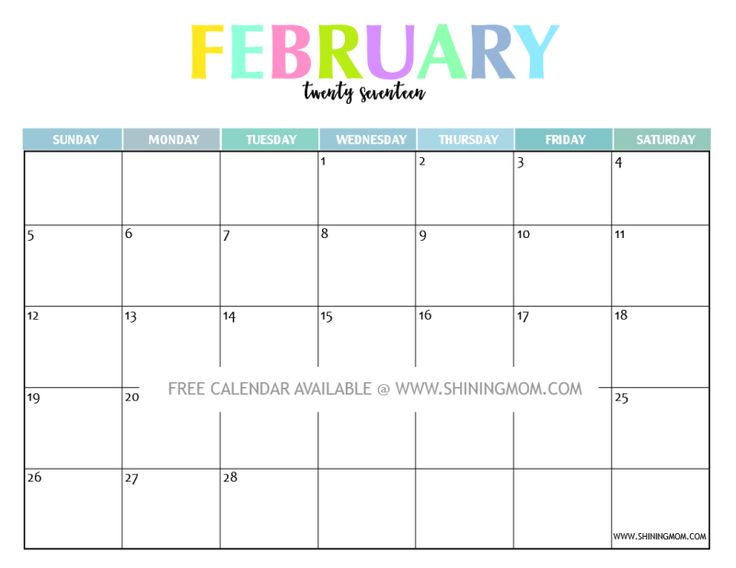 109 best Free Printable 2017 Calendars by Shining Mom Blog images ...