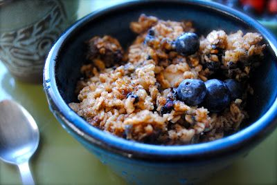 Belly Up: Spiced Blueberry Baked Oatmeal