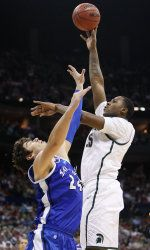 The Big Ten Conference announced the 2012-13 men's basketball schedule on August 30. A game on an United States Air Force Base in Germany, a neutral-site contest against a Top-5 team, a road game in the ACC/Big Ten Challenge, a return to Jenison Field House and a home game against Texas highlight Michigan State's non-conference schedule. MSU's league slate includes five opponents ranked in the Top 25 by both CBSSports.com and ESPN.com.