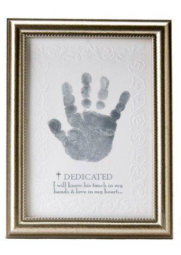 The Grandparent Gift Co. Growing in Faith Handprint Frame, Baby Dedication