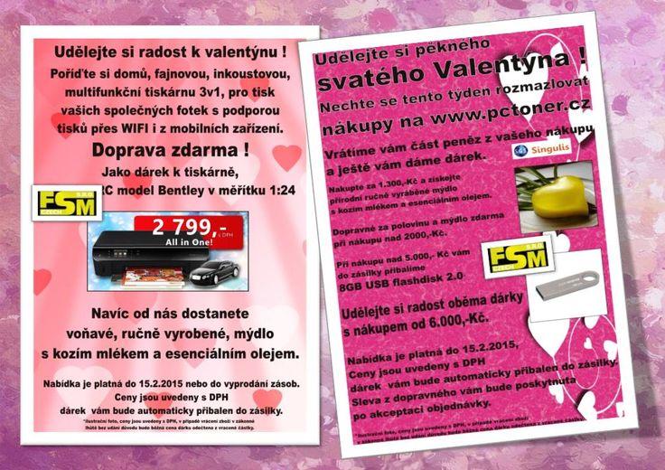 UDĚLEJTE SI RADOST K VALENTÝNU   OBCHODNÍ PARTNER FSM si pro Vás připravil tipy na užitečné dárky pro sebe, nebo své drahé.  www.singulis.cz/pages/obchodnik.aspx?cla_id=16122