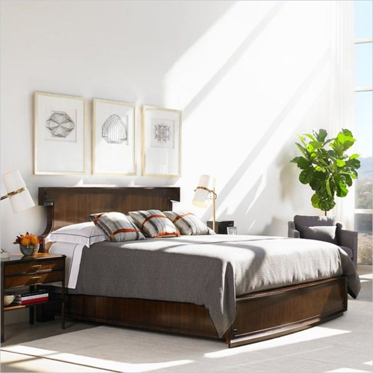 Crestaire   Southridge Bed In Porter   436 13 40   Stanley Furniture