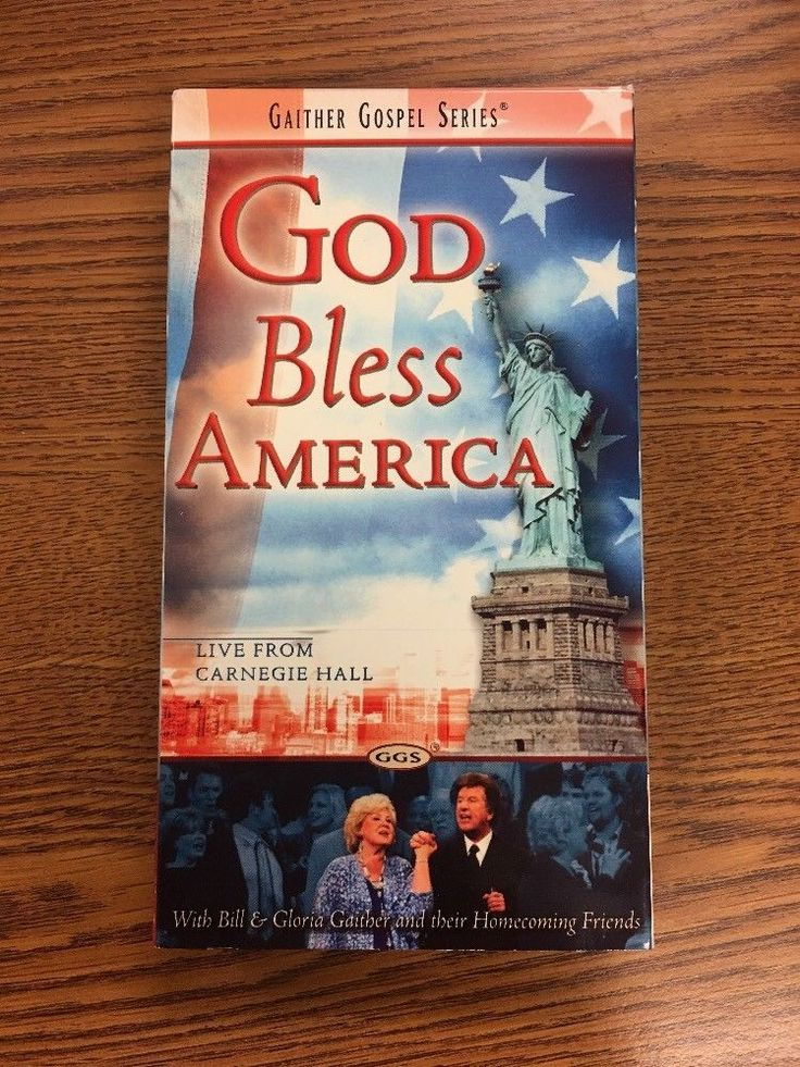 Gaither Gospel Series - God Bless America- Live From Carnegie Hall -VHS