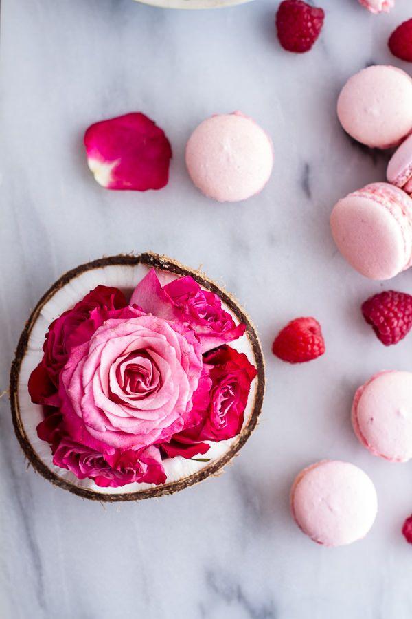 Coconut Raspberry Macarons With Raspberry Rose Buttercream ...