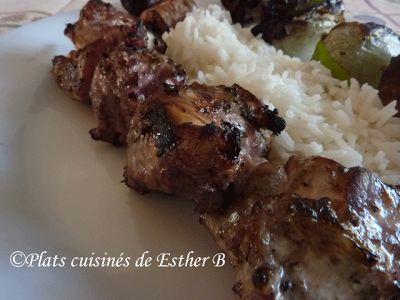 Les plats cuisinés de Esther B: Souvlaki au poulet