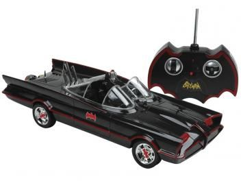 Carrinho de Controle Remoto Batman Batmóvel - Série Clássica Candide 7 Funções