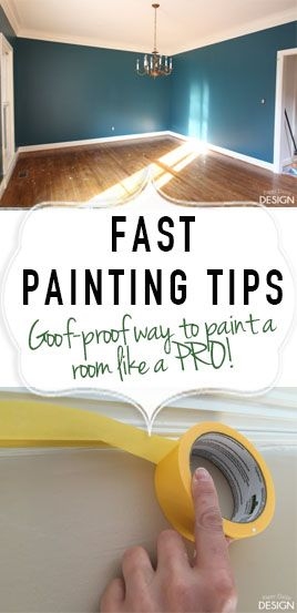 The goof proof guide to painting a room fast. How to paint a room.